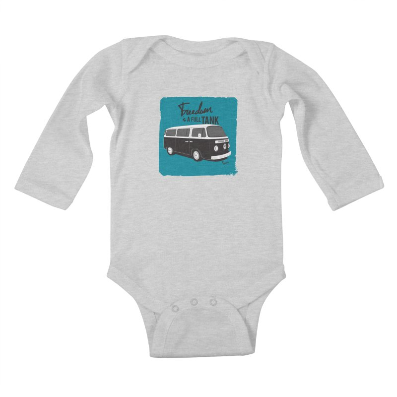 Freedom is a full tank Kids Baby Longsleeve Bodysuit by Andrea Pacini