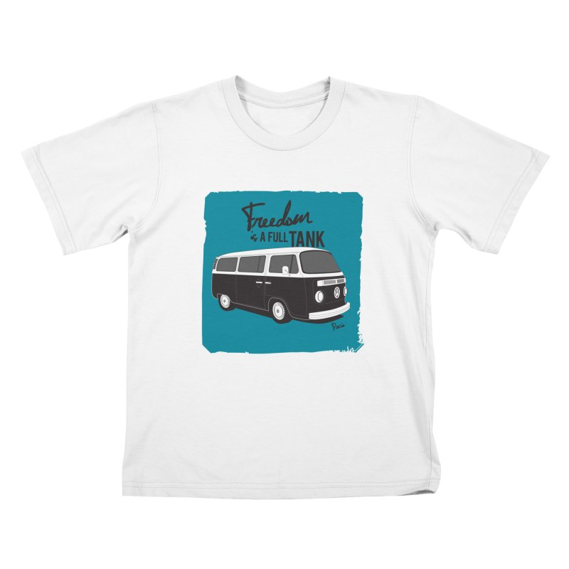Freedom is a full tank Kids T-Shirt by Andrea Pacini