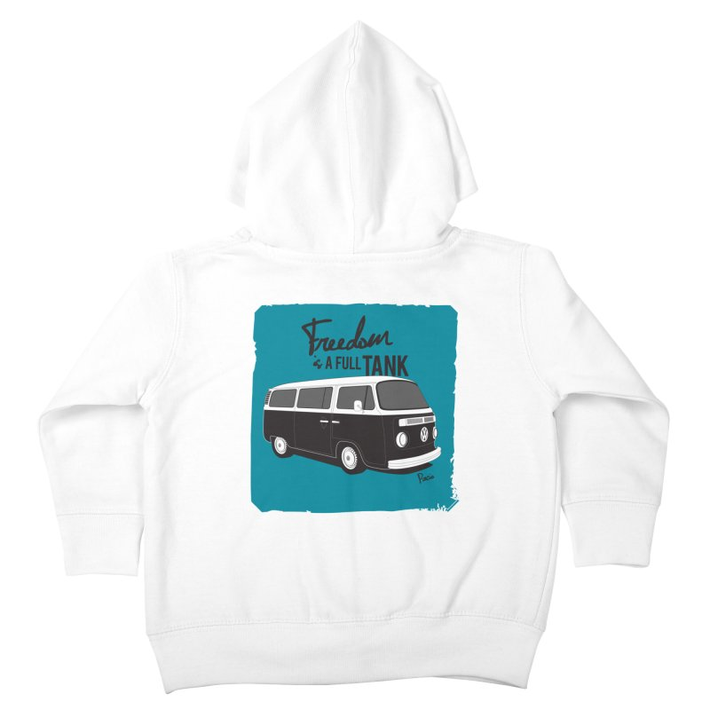Freedom is a full tank Kids Toddler Zip-Up Hoody by Andrea Pacini