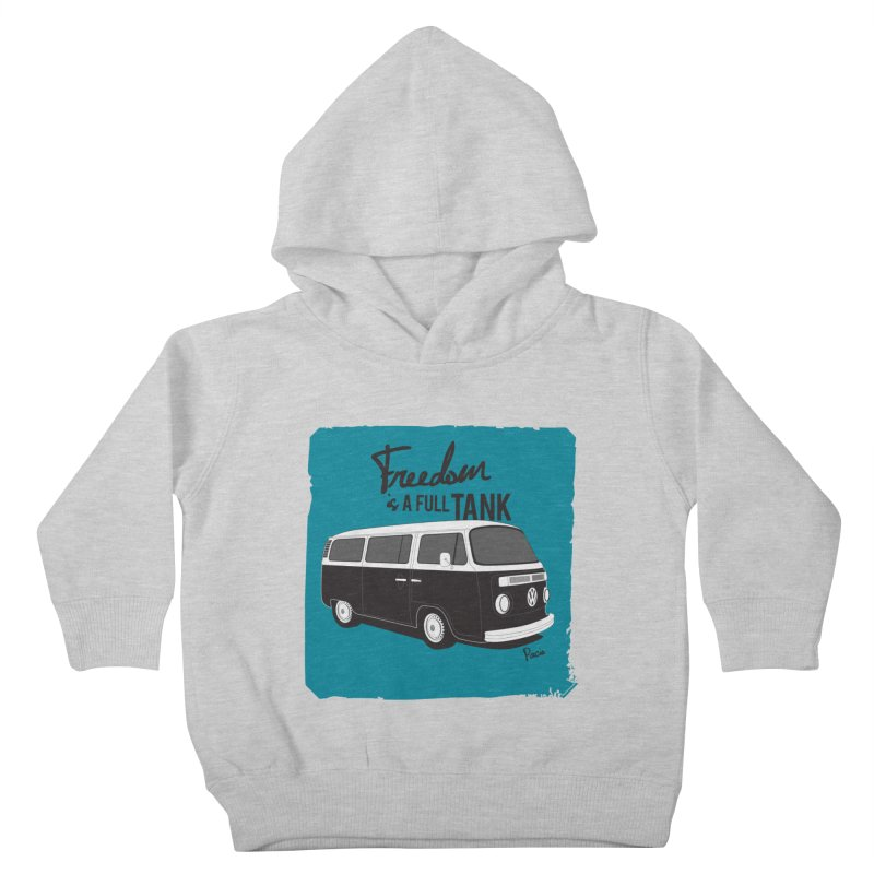 Freedom is a full tank Kids Toddler Pullover Hoody by Andrea Pacini