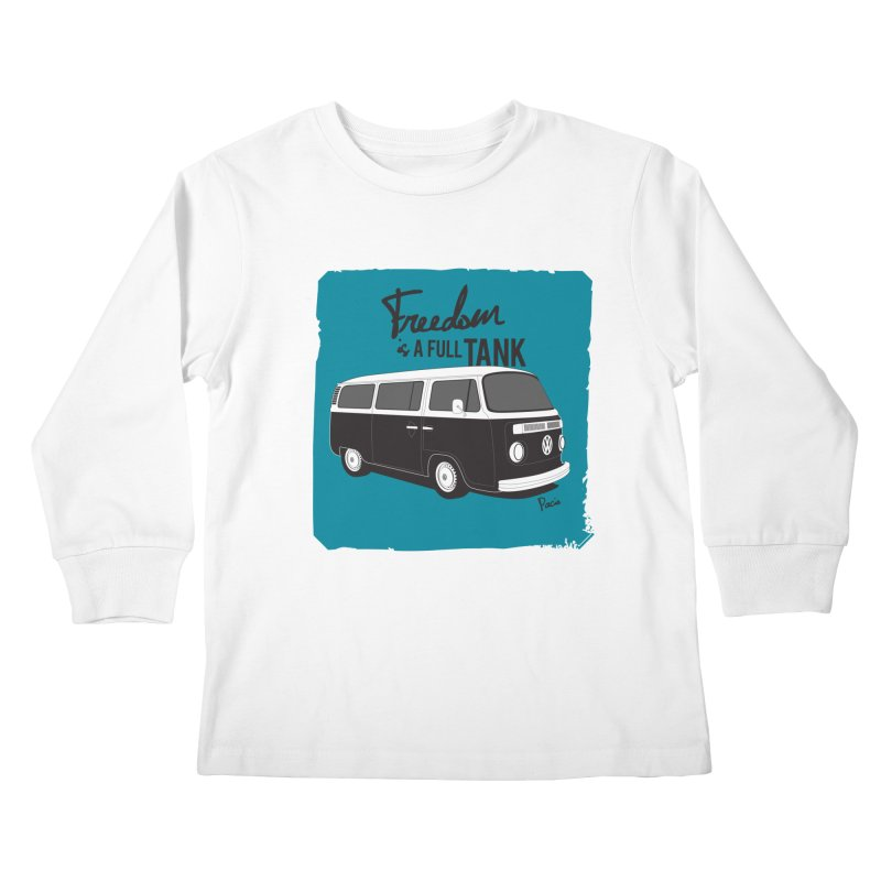 Freedom is a full tank Kids Longsleeve T-Shirt by Andrea Pacini