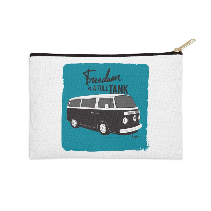 Freedom is a full tank Accessories Zip Pouch by Andrea Pacini