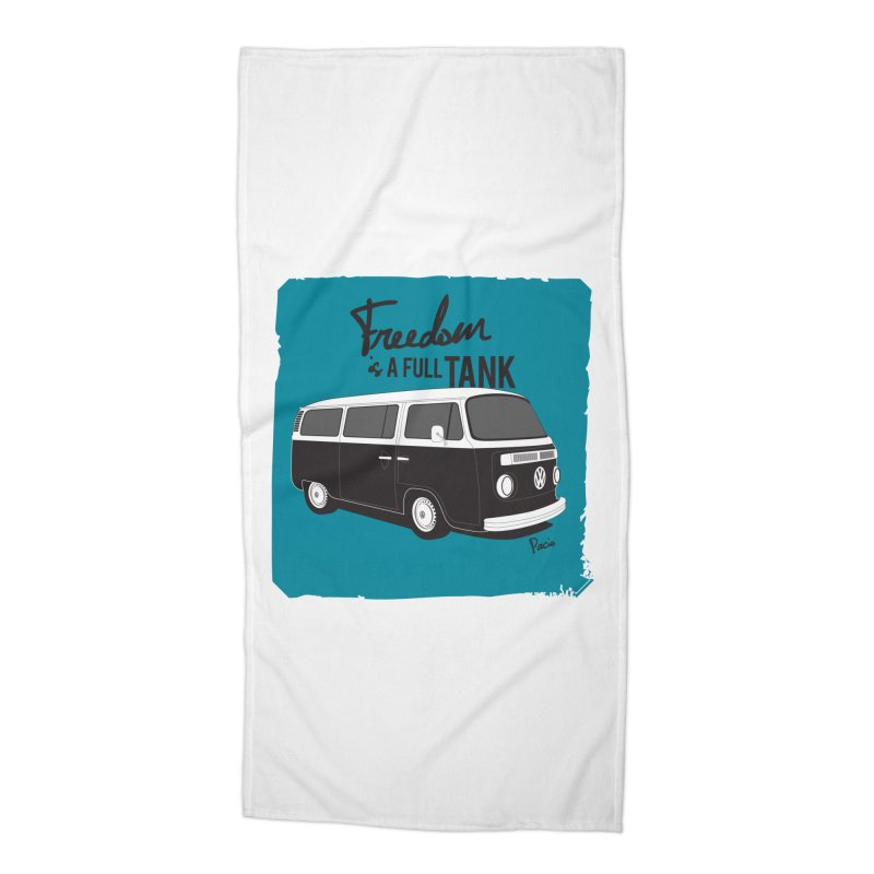 Freedom is a full tank Accessories Beach Towel by Andrea Pacini