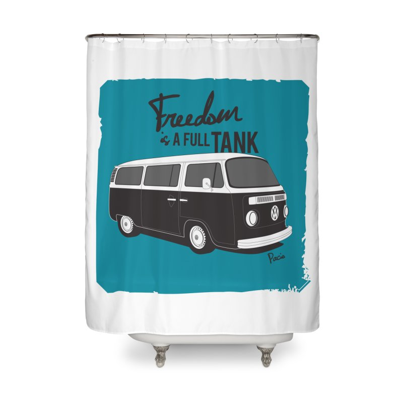 Freedom is a full tank Home Shower Curtain by Andrea Pacini