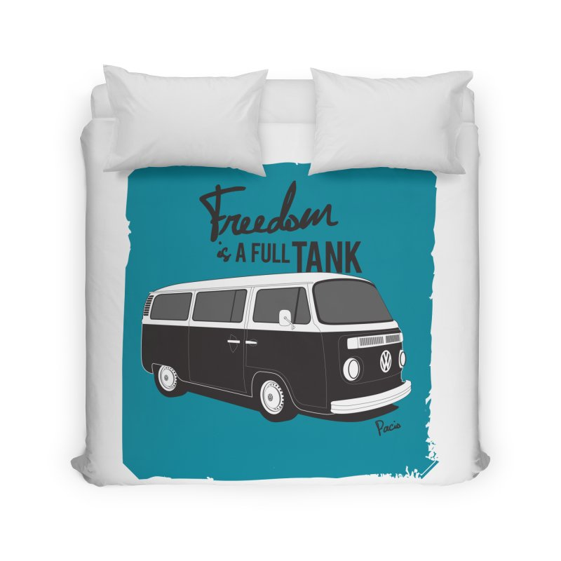 Freedom is a full tank Home Duvet by Andrea Pacini