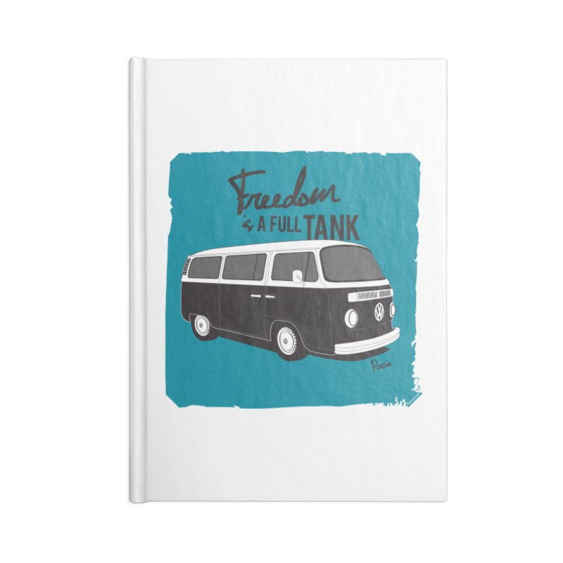 Freedom is a full tank Accessories Notebook by Andrea Pacini