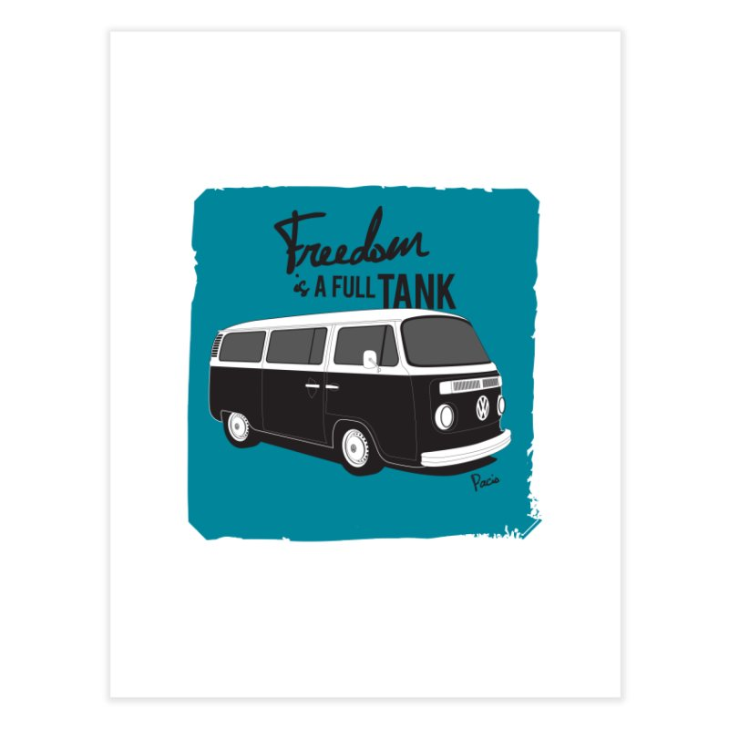 Freedom is a full tank Home Fine Art Print by Andrea Pacini
