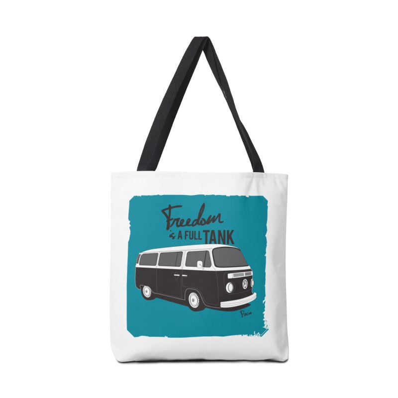 Freedom is a full tank Accessories Tote Bag Bag by Andrea Pacini