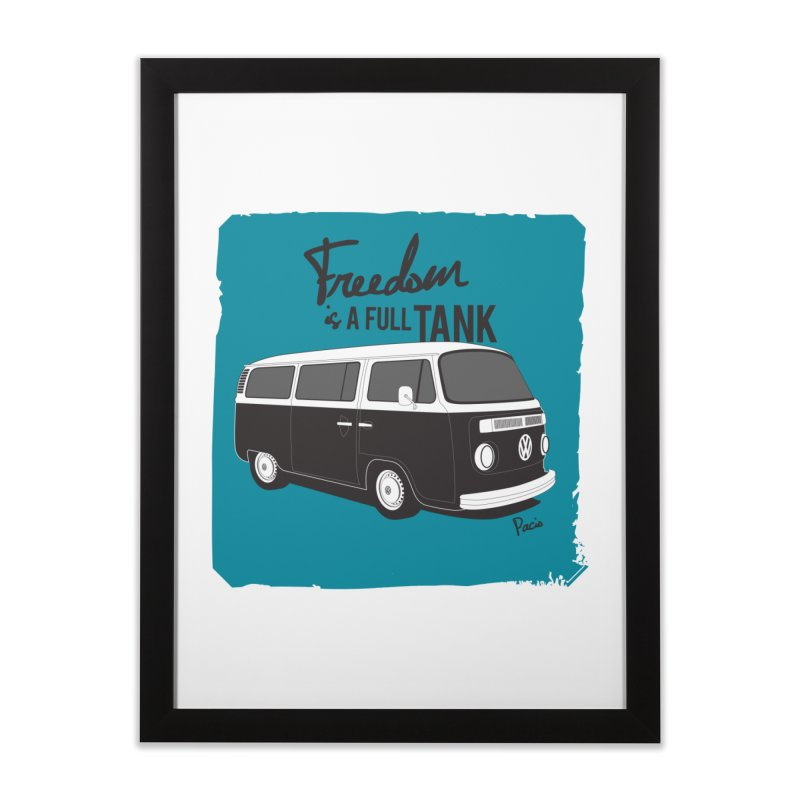 Freedom is a full tank Home Framed Fine Art Print by Andrea Pacini