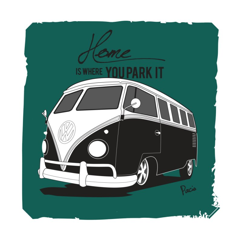 Home is where you park it Home Tapestry by Andrea Pacini
