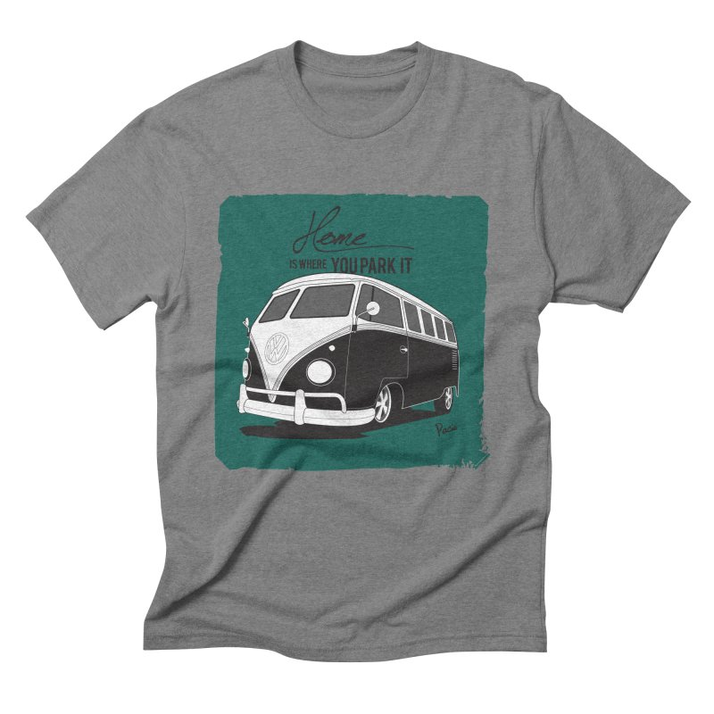 Home is where you park it Men's T-Shirt by Andrea Pacini