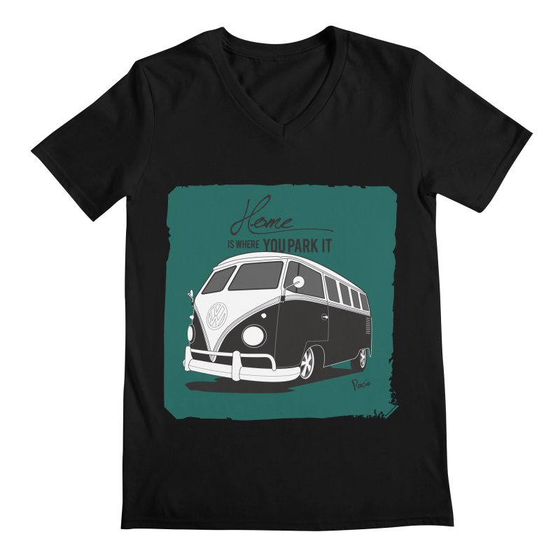 Home is where you park it Men's V-Neck by Andrea Pacini