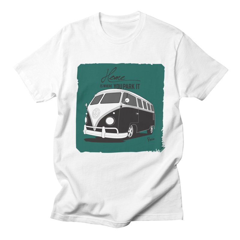 Home is where you park it Men's Regular T-Shirt by Andrea Pacini