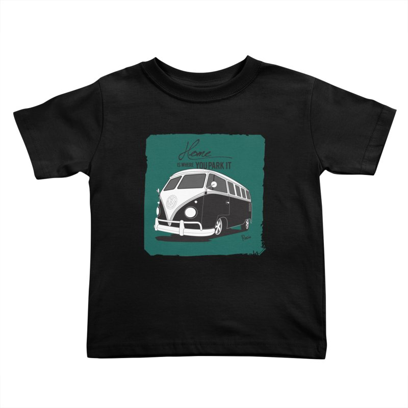 Home is where you park it Kids Toddler T-Shirt by Andrea Pacini