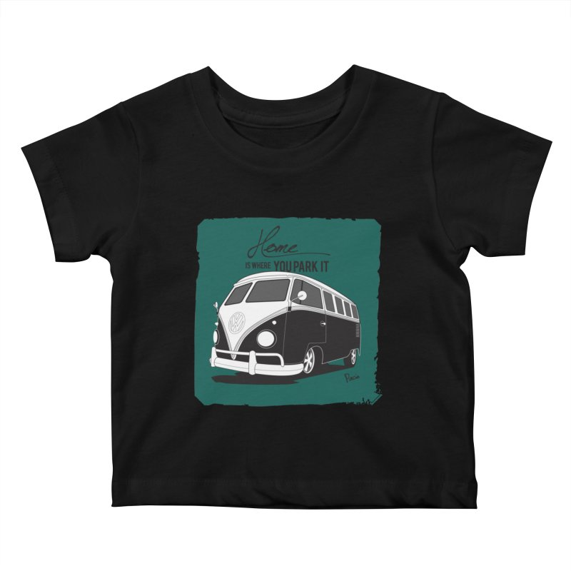 Home is where you park it Kids Baby T-Shirt by Andrea Pacini