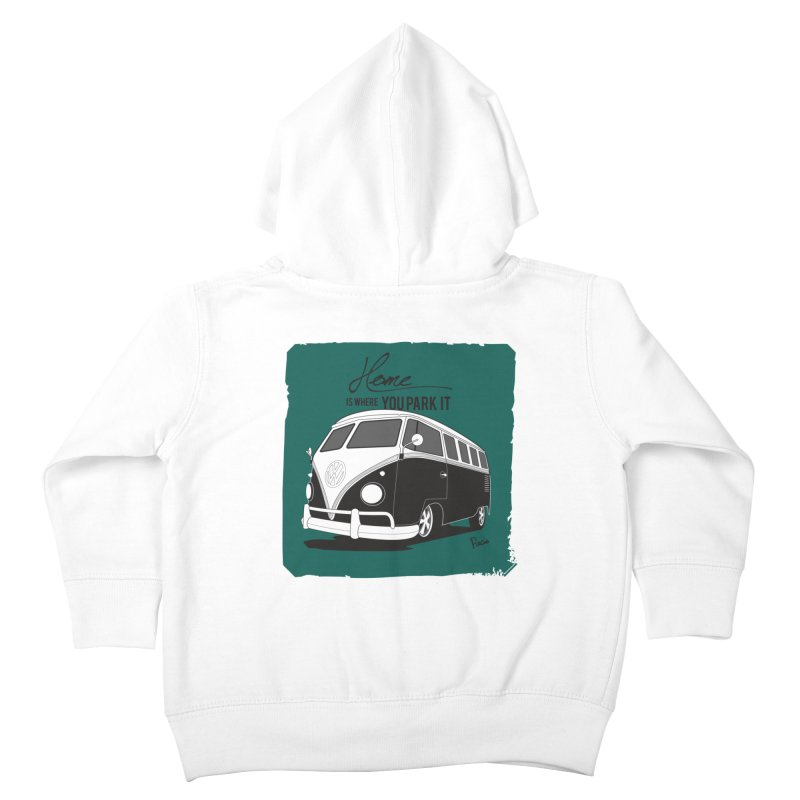 Home is where you park it Kids Toddler Zip-Up Hoody by Andrea Pacini