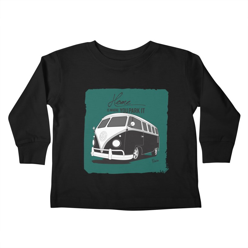 Home is where you park it Kids Toddler Longsleeve T-Shirt by Andrea Pacini
