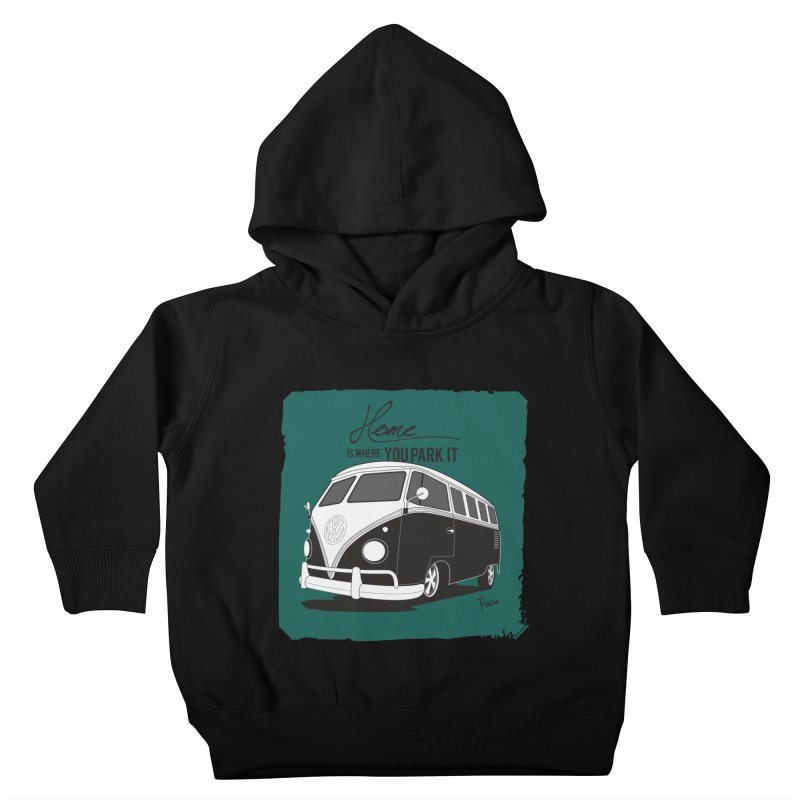 Home is where you park it Kids Toddler Pullover Hoody by Andrea Pacini
