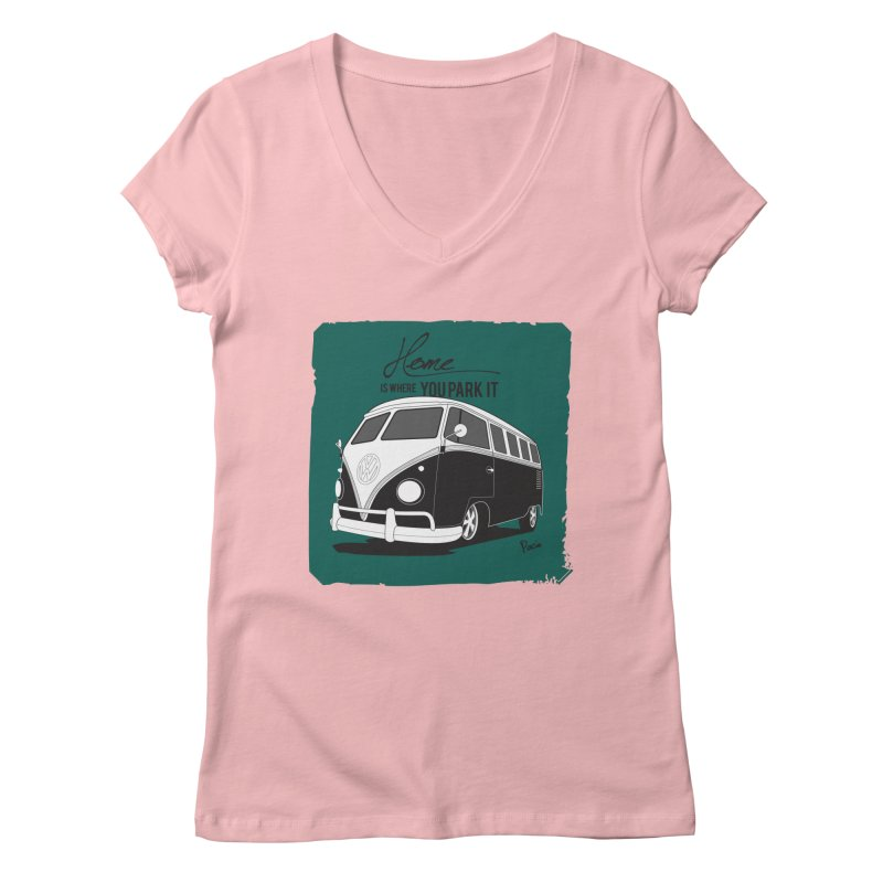 Home is where you park it Women's V-Neck by Andrea Pacini