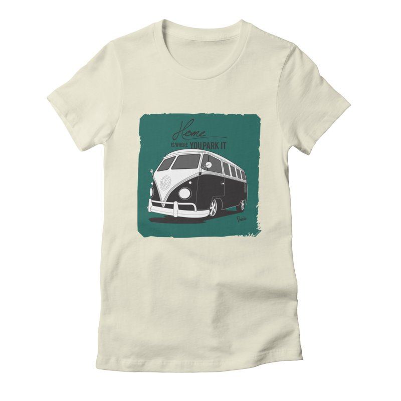 Home is where you park it Women's Fitted T-Shirt by Andrea Pacini