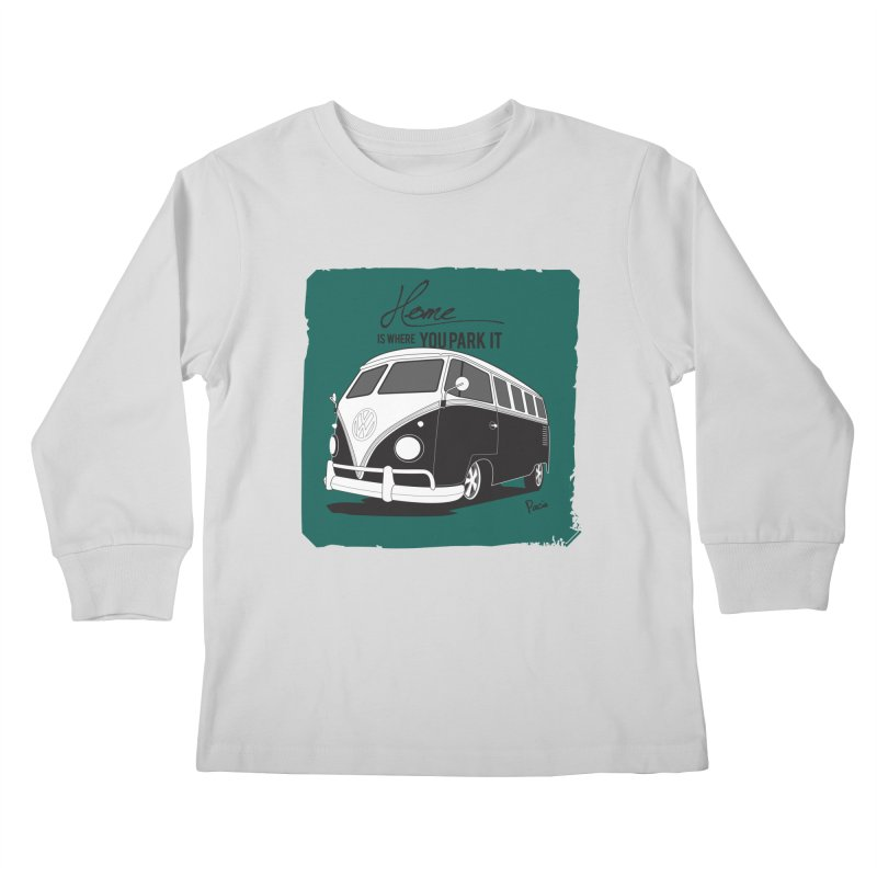 Home is where you park it Kids Longsleeve T-Shirt by Andrea Pacini