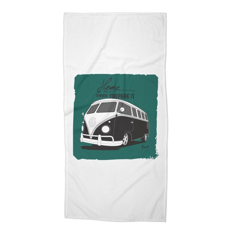 Home is where you park it Accessories Beach Towel by Andrea Pacini
