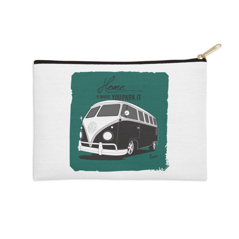 Home is where you park it Accessories Zip Pouch by Andrea Pacini
