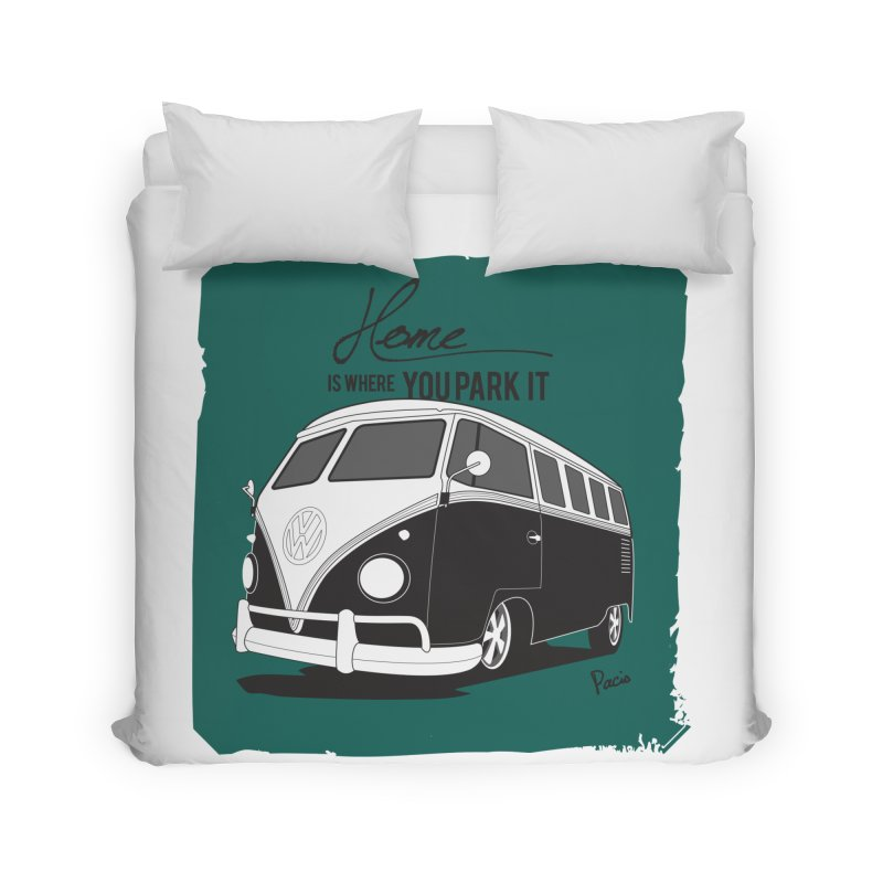 Home is where you park it Home Duvet by Andrea Pacini