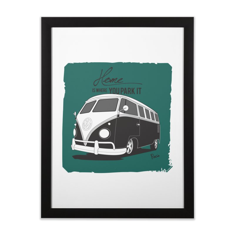 Home is where you park it Home Framed Fine Art Print by Andrea Pacini