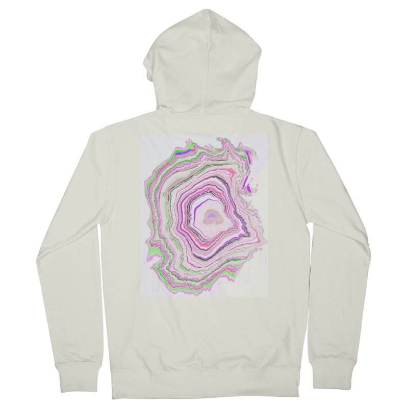 Fluorescent Pixellated Rings Men's Zip-Up Hoody by andrearaths's Artist Shop