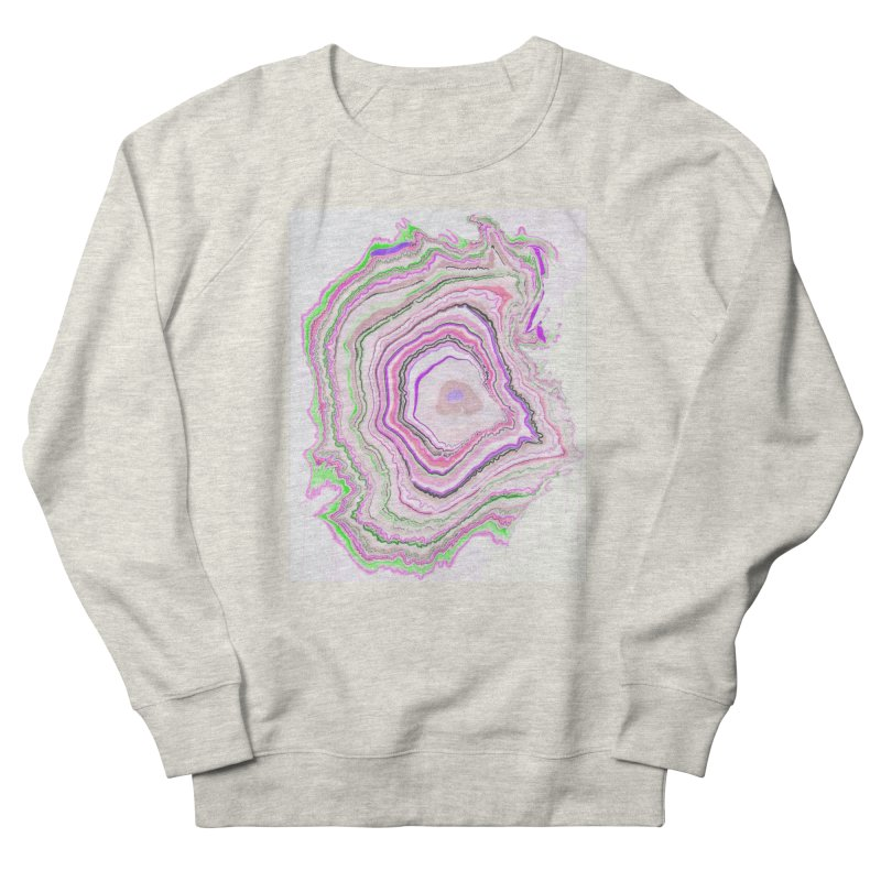 Fluorescent Pixellated Rings Men's Sweatshirt by andrearaths's Artist Shop