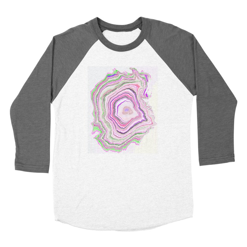 Fluorescent Pixellated Rings Women's Baseball Triblend Longsleeve T-Shirt by andrearaths's Artist Shop