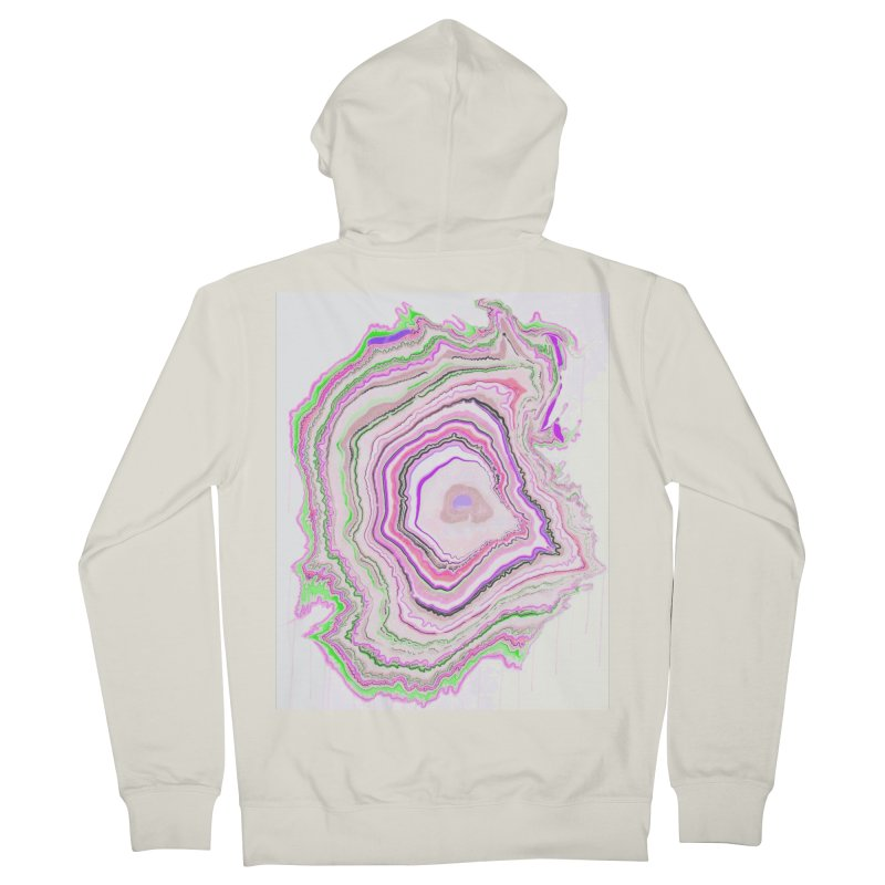 Fluorescent Pixellated Rings Women's French Terry Zip-Up Hoody by andrearaths's Artist Shop