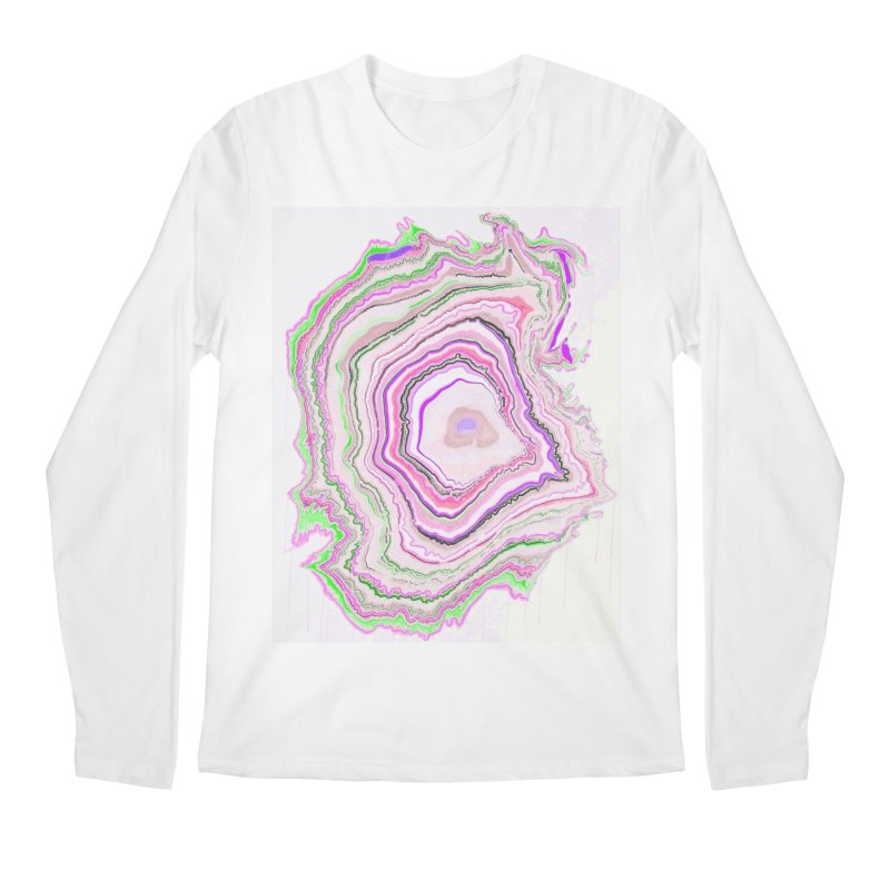 Fluorescent Pixellated Rings Men's Regular Longsleeve T-Shirt by andrearaths's Artist Shop