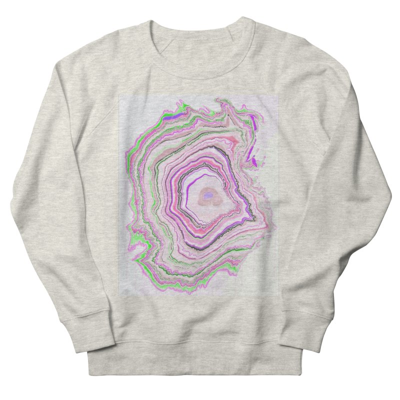 Fluorescent Pixellated Rings Women's French Terry Sweatshirt by andrearaths's Artist Shop