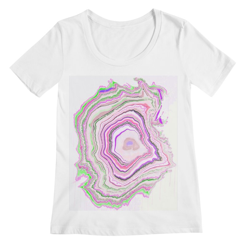 Fluorescent Pixellated Rings Women's Scoopneck by andrearaths's Artist Shop