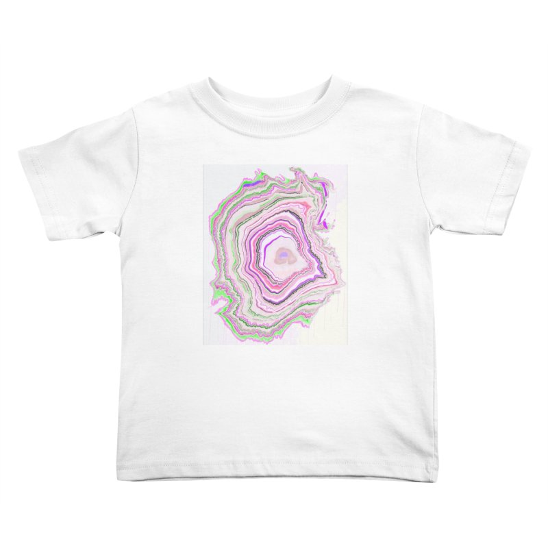Fluorescent Pixellated Rings Kids Toddler T-Shirt by andrearaths's Artist Shop