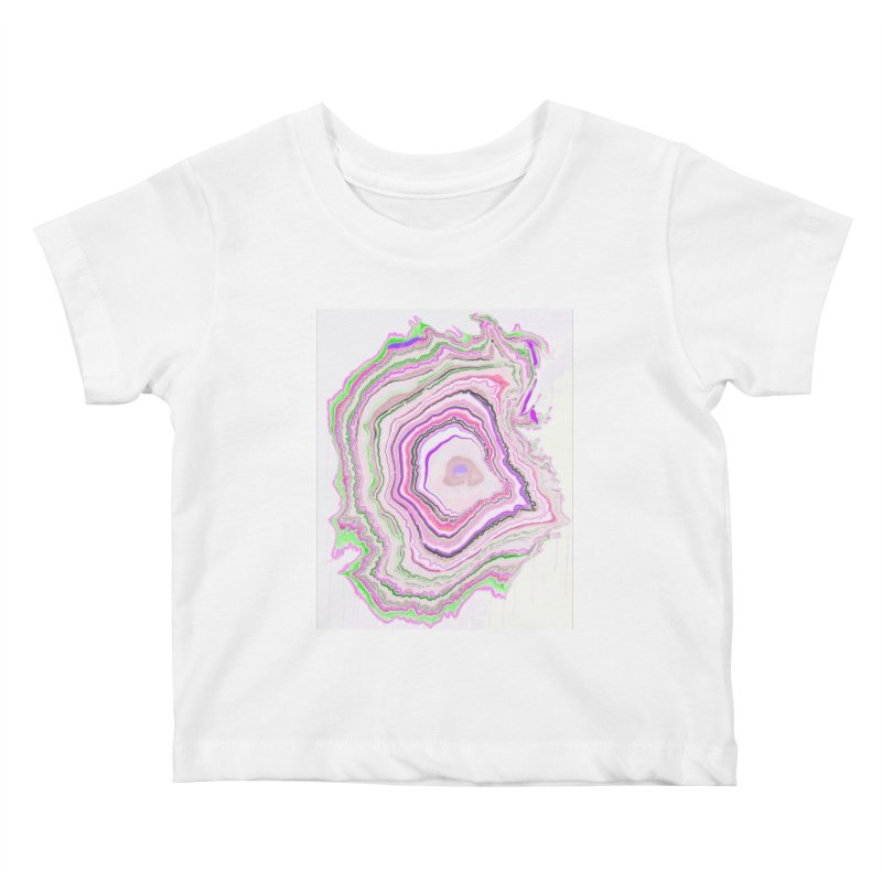 Fluorescent Pixellated Rings Kids Baby T-Shirt by andrearaths's Artist Shop
