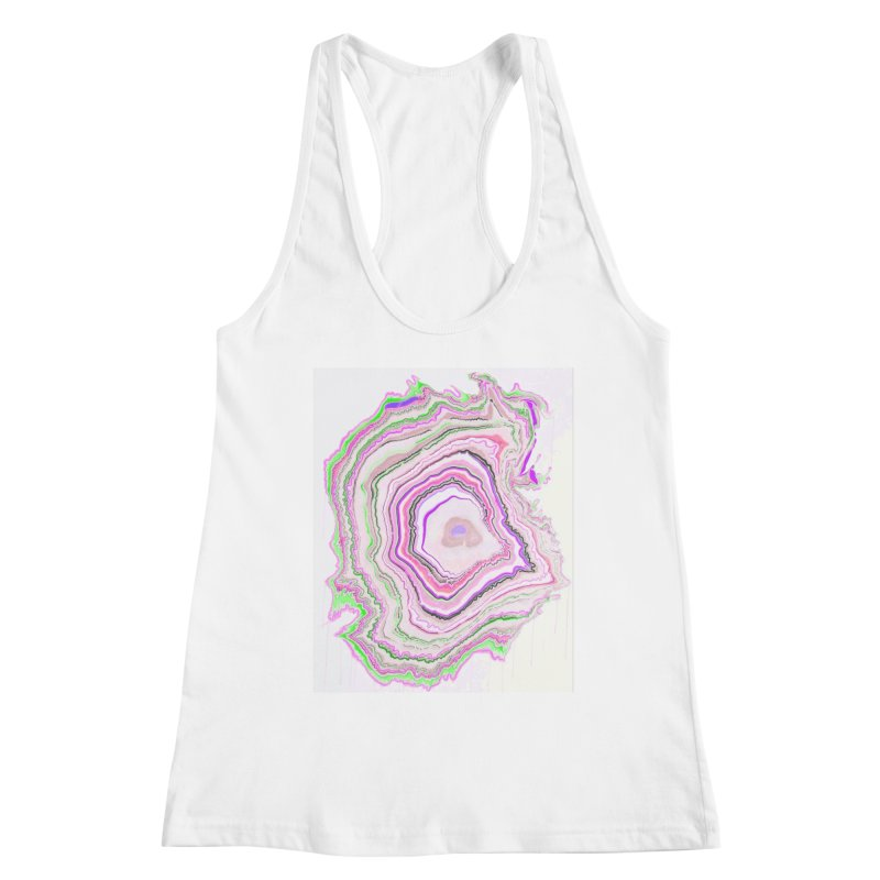 Fluorescent Pixellated Rings Women's Racerback Tank by andrearaths's Artist Shop