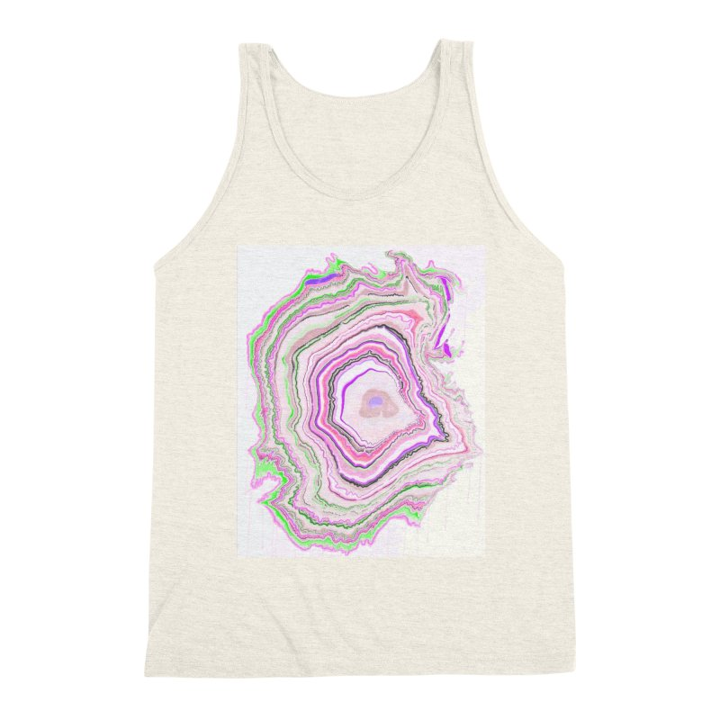 Fluorescent Pixellated Rings Men's Triblend Tank by andrearaths's Artist Shop