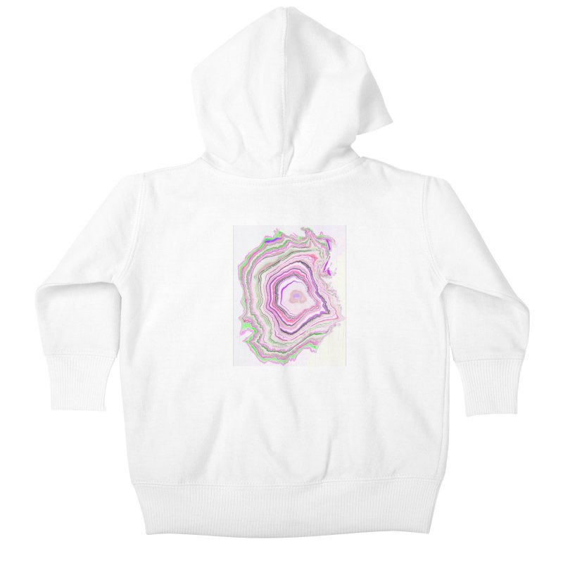 Fluorescent Pixellated Rings Kids Baby Zip-Up Hoody by andrearaths's Artist Shop