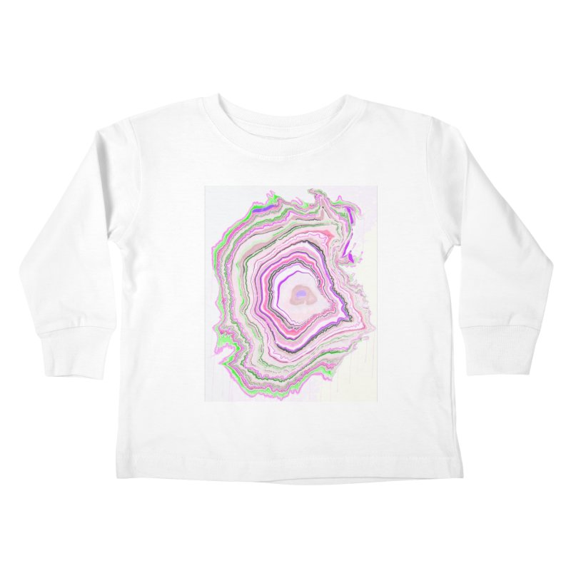 Fluorescent Pixellated Rings Kids Toddler Longsleeve T-Shirt by andrearaths's Artist Shop