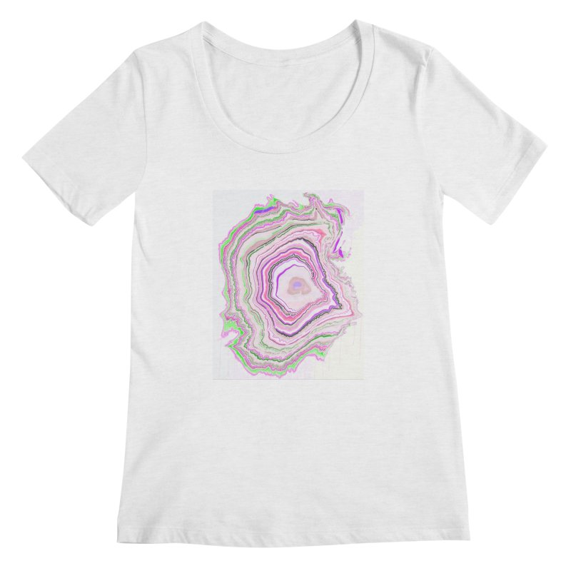 Fluorescent Pixellated Rings Women's Regular Scoop Neck by andrearaths's Artist Shop