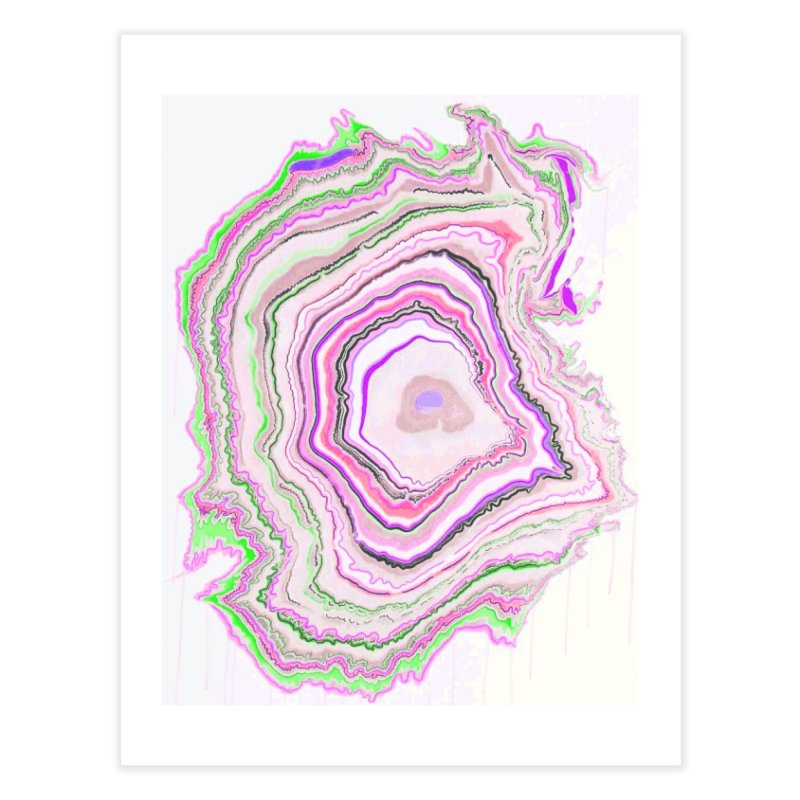 Fluorescent Pixellated Rings Home Fine Art Print by andrearaths's Artist Shop