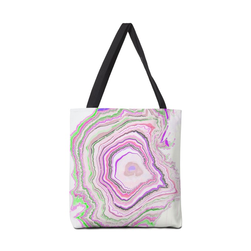 Fluorescent Pixellated Rings Accessories Tote Bag Bag by andrearaths's Artist Shop