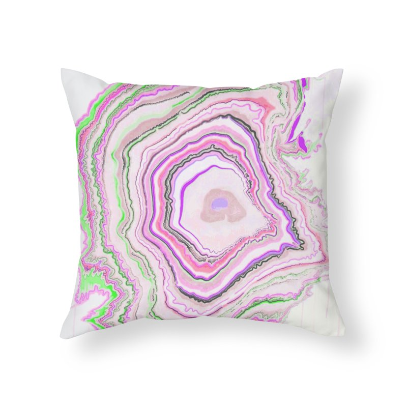 Fluorescent Pixellated Rings Home Throw Pillow by andrearaths's Artist Shop