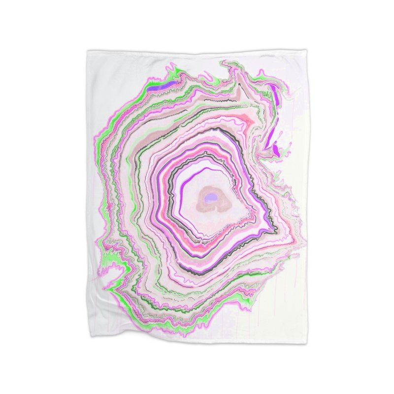 Fluorescent Pixellated Rings Home Blanket by andrearaths's Artist Shop