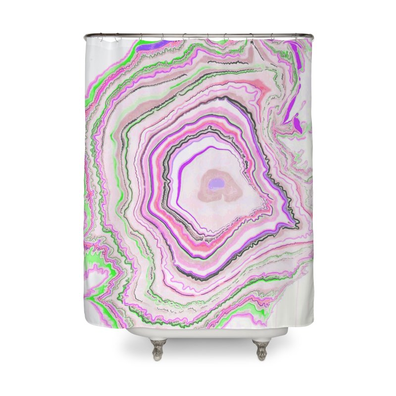Fluorescent Pixellated Rings Home Shower Curtain by andrearaths's Artist Shop