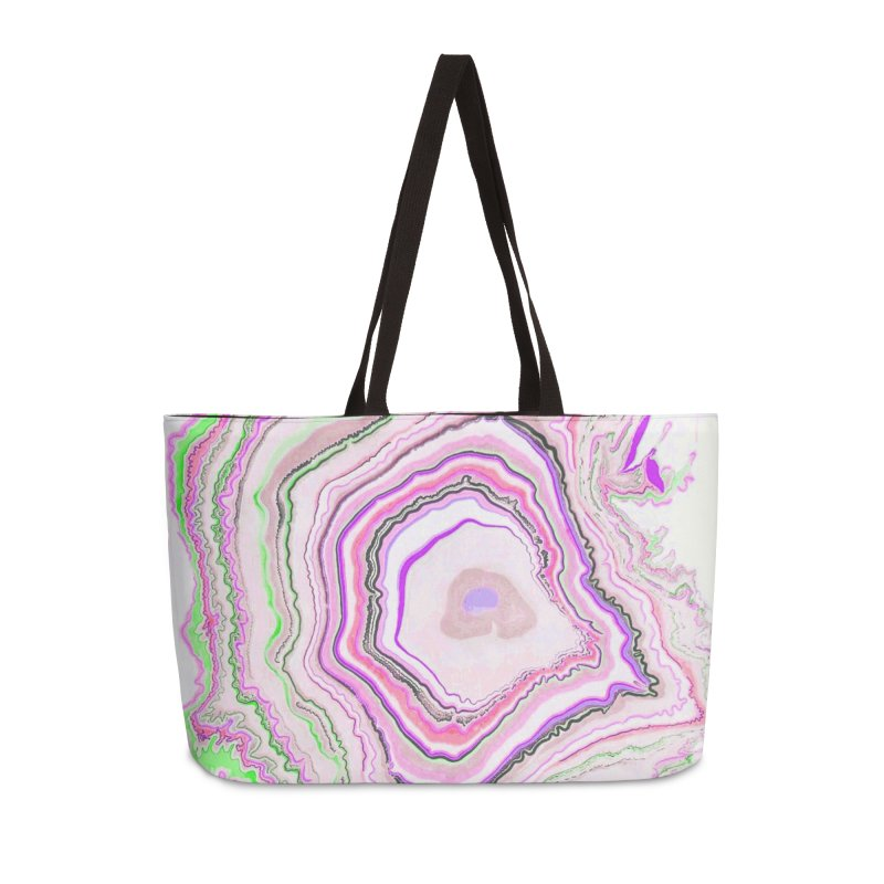 Fluorescent Pixellated Rings Accessories Weekender Bag Bag by andrearaths's Artist Shop