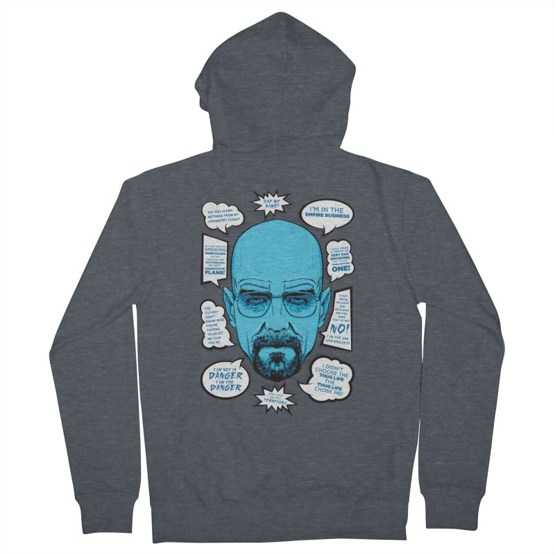 Heisenberg Quotes Women's Zip-Up Hoody by Andreas Leonidou's Artist Shop